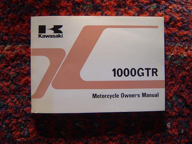 KAWASAKI 1000 GTR 1991 owner's manual ZG1000-A7 motorcycle
