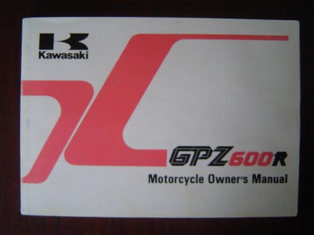 KAWASAKI GPZ600 R 1989 owner's manual GPZ 600 R