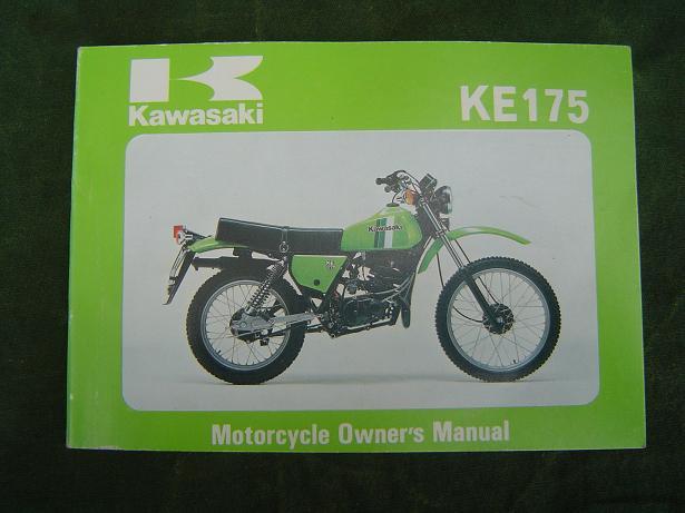 KAWASAKI KE 175 1980 owner's manual