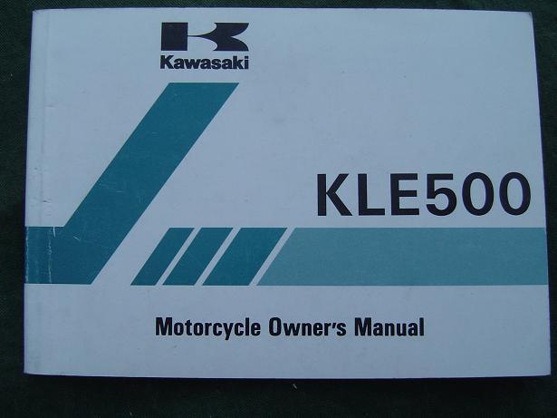 KAWASAKI KLE 500 1999 owner's manual