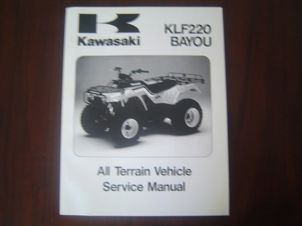 KAWASAKI KLF220 BAYOU ATV 1988 – 2002  service manual KLF 220 werkplaatsboek