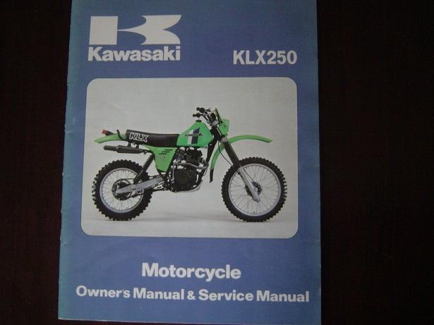 kawasaki klx250 1979 owner s manual service manual klx 250 a2 rh simonsoldmotorcycleparts com kawasaki klx250 service manual free download kawasaki klx 250 owners manual