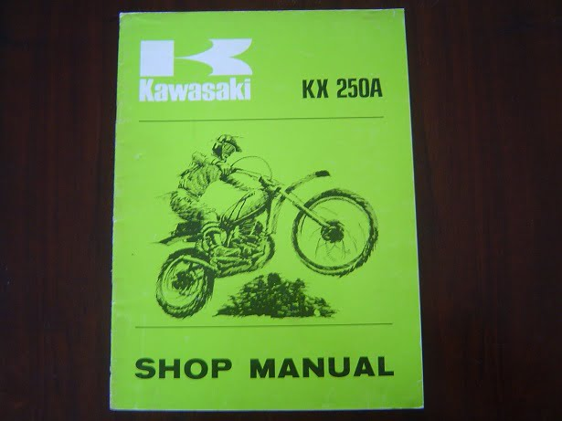KAWASAKI KX 250 A 1974 shop manual KX250 A handbook