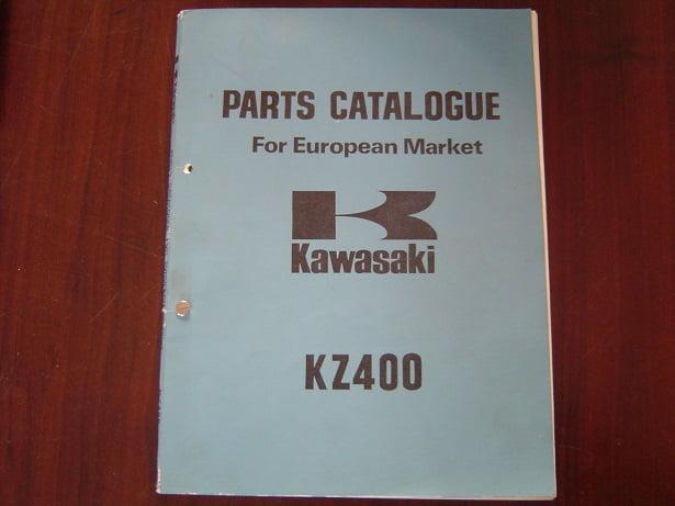 KAWASAKI KZ400 twin  1974  parts catalogue KZ 400 onderdelen boek