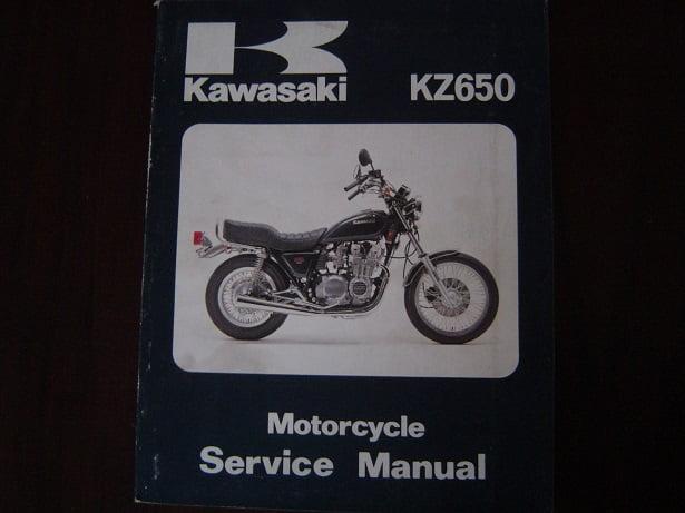 KAWASAKI KZ650   1981 service manual KZ 650  CSR 650 werkplaatshandboek