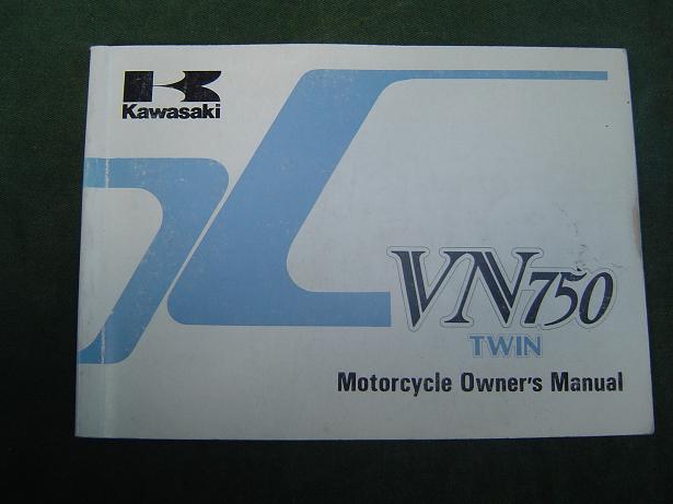 KAWASAKI VN 750 twin 1985 owner's manual