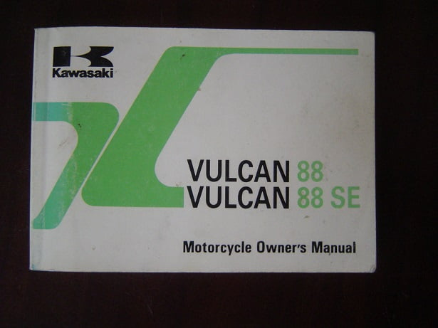 KAWASAKI VULCAN VN1500 88 SE  1991 motorcycle owner's manual