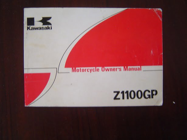KAWASAKI Z1100 GP 1981 Z 1100 – B1  owner 's manual
