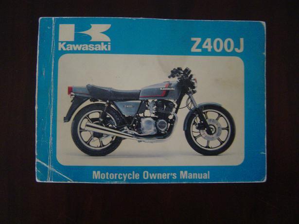 KAWASAKI Z400 J  1980  owner 's manual   Z 400 J