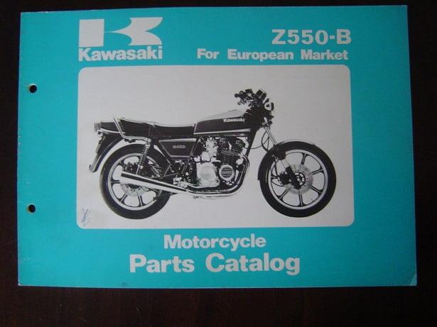 KAWASAKI Z550-B 1980 parts catalog Z 550 onderdelen boekje