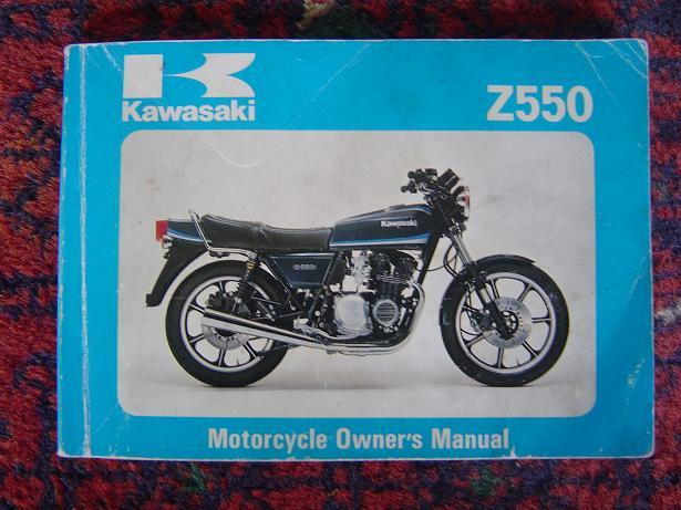 KAWASAKI Z550  1980 owners manual