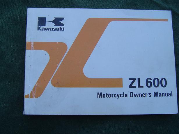 KAWASAKI ZL 600 1985 owner's manual