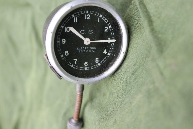 "O.S. france 6 volts klokje 2"" 2 inch clock watch 1940's"