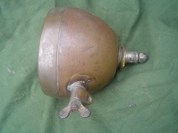 1920's electric motorcycle headlamp UK ?? koplamp lampe