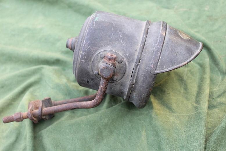BERKO electrische motorfiets koplamp jaren 20 / 30 motorcycle headlamp