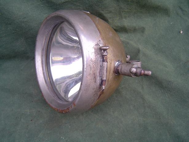 motorfiets koplamp WARMINGTON LONDON 1920's motorcycle headlamp