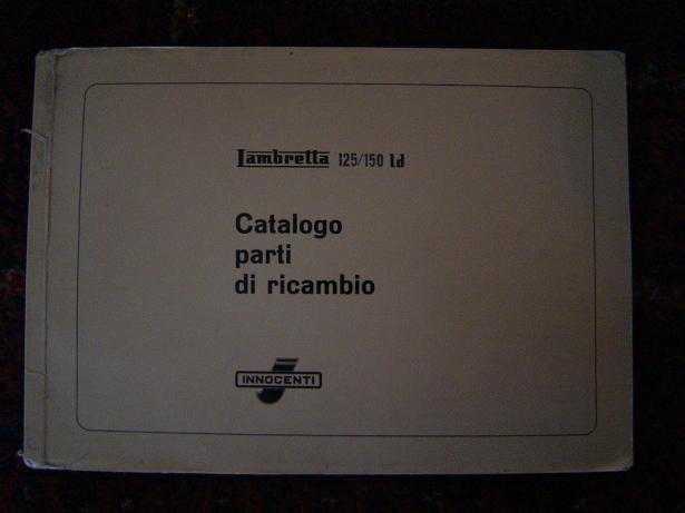 LAMBRETTA  125  150 Ld  1957 onderdelen catalogus catalogo parti di ricambio