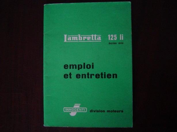 LAMBRETTA 125Li 1960 emploi et entretien innocenti 125 Li