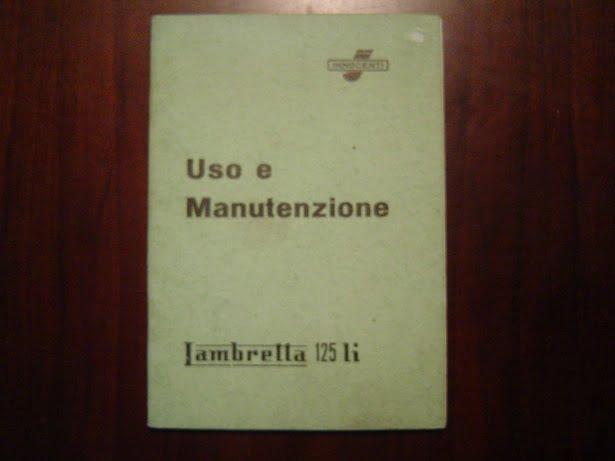 LAMBRETTA 125Li 1959 uso e manutenzione 125 Li handboekje