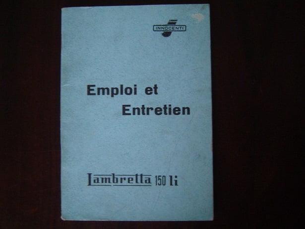 LAMBRETTA 150 Li 1958 Emploi et Entretien   150Li  Innocenti scooter