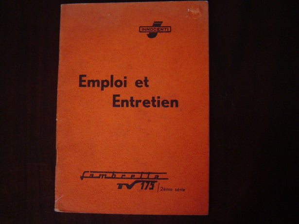 LAMBRETTA TV175  1959 Emploi et Entretien TV 175 owner's manual