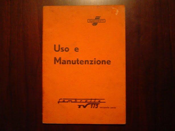 LAMBRETTA TV175 1959 Uso e manutenzione TV 175 scooter instructie boekje