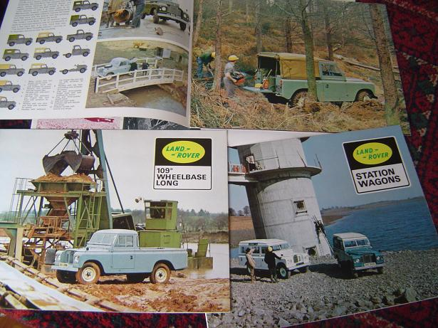 "LAND ROVER 1971  folders+  technical details 1969 prospects 88"" 109 "" wheelbase"