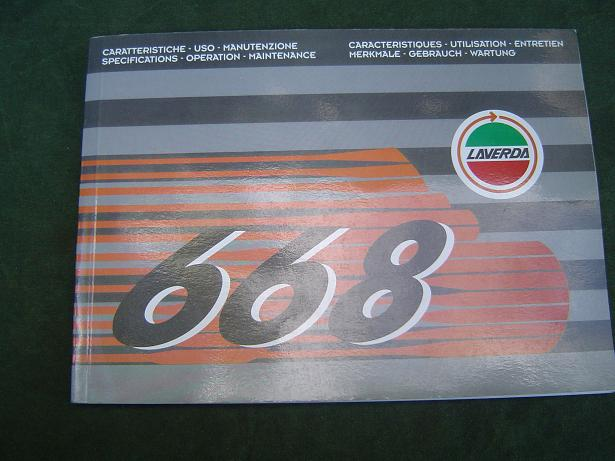 LAVERDA 668 operation maintenance manual