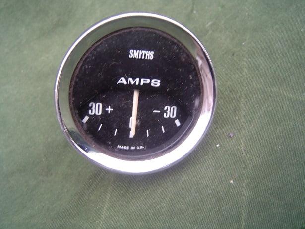 SMITHS 30-30 ampere meter  AM 2301/00 52 mm ammeter 1966 ??