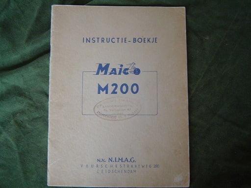 MAICO  M 200 instructie boekje