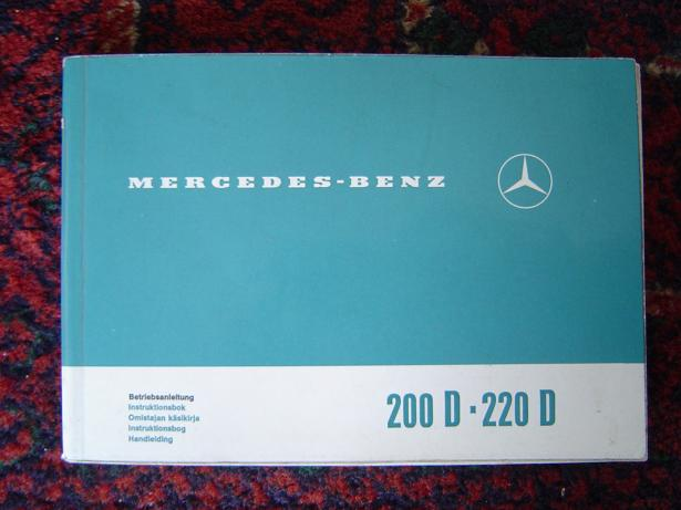 MERCEDES BENZ 200 D en 220 D betriebsanleitung 1971