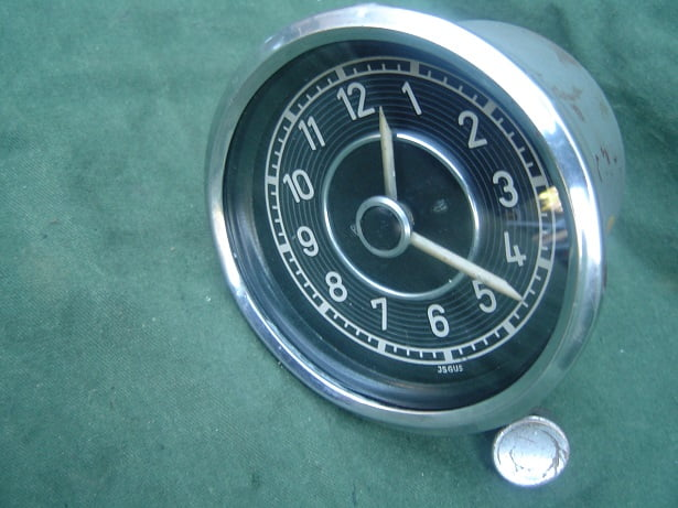 JSGUS MERCEDES ? car clock uhr auto klok 1950's 80 mm