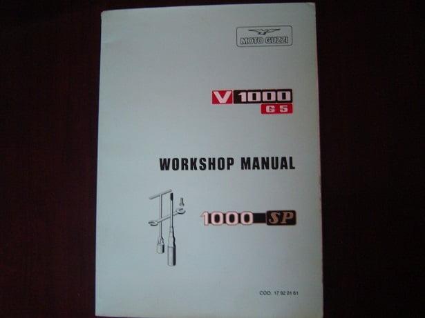 MOTO GUZZI V1000 G5 , V 1000 , 1000 SP 1979 workshop  manual