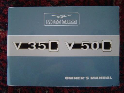 MOTO GUZZI V 35 C en V 50 C 1982 owner 's manual  V35C V50C