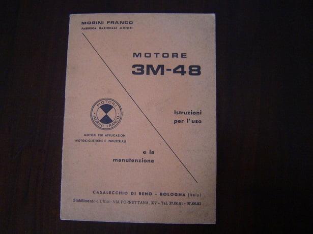 MORINI FRANCO 3M-48 Istruzioni  instructie boekje