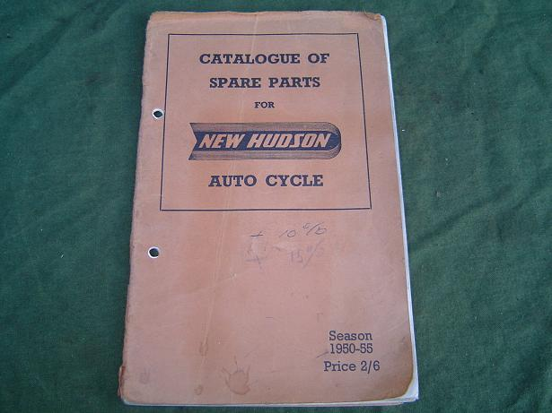 NEW HUDSON auto cycle  1950 – 1955  spare parts list