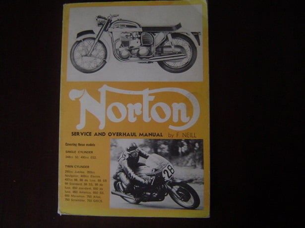 NORTON service and overhaul manual by F. Neill models ES2 50 88 99 650 etc