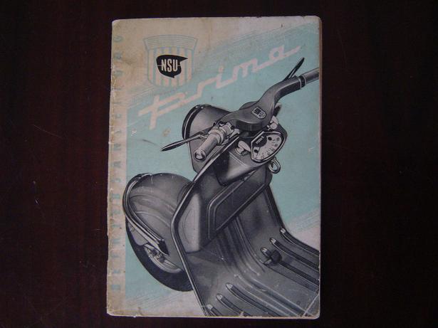 NSU PRIMA 1961 150 cc mit anlasser betriebsanleitung