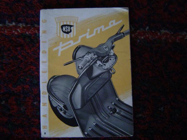 NSU PRIMA  150 cc 1956 scooter handleiding