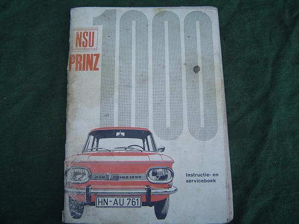 NSU PRINZ 1000 instructie boekje