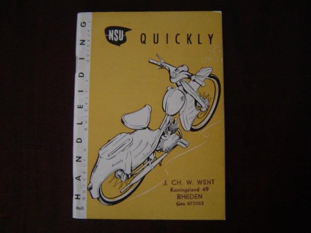 NSU QUICKLY  Normal Standard Luxus 1960 handleiding instructie boekje