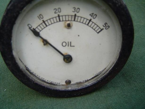 0- 50 oil pressure gauge La Grosse USA oliedrukmeter