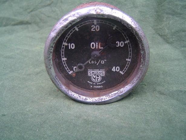 SMITHS 40 Lbs olie drukmeter oil pressure gauge oel druckmesser
