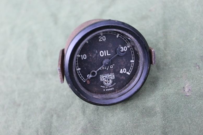 SMITHS 40 Lbs olie druk meter oil pressure gauge X26880 52 mm