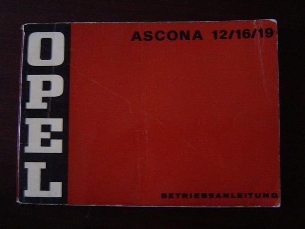 OPEL ASCONA 1200 / 1600 / 1900 1973 betriebsanleitung