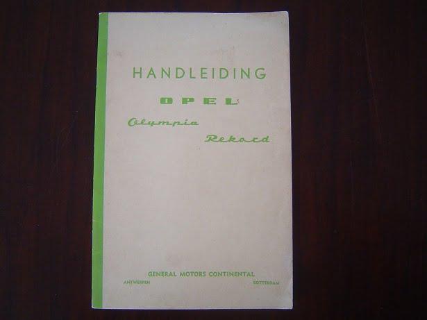OPEL OLYMPIA REKORD 1959 ? handleiding instructie boekje