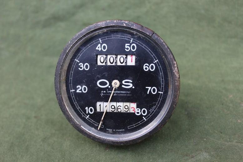 O.S. 80 miles speedometer London  mijlen teller tacho