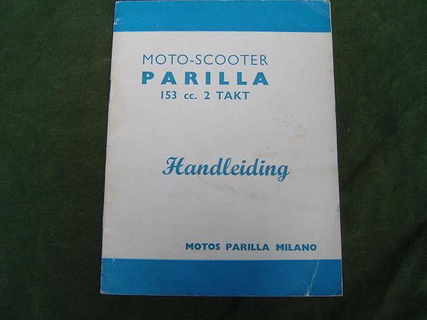 PARILLA 153 CC tweetakt handleiding voor motor scooter