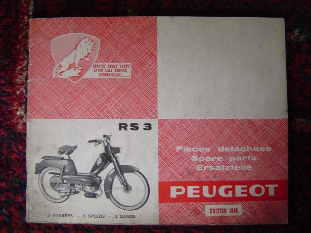 PEUGEOT RS 3 1966 bromfiets moped cyclomoteur