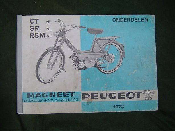 PEUGEOT  MAGNEET  CT SR RSM 1972 bromfiets onderdelen boek